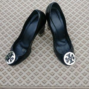 Tory Burch black high heel shoes